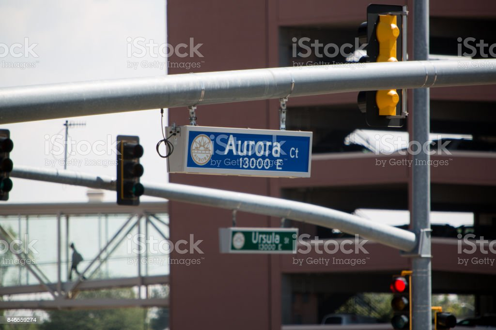 Parking Garage and Street Signs Close Up stock photo