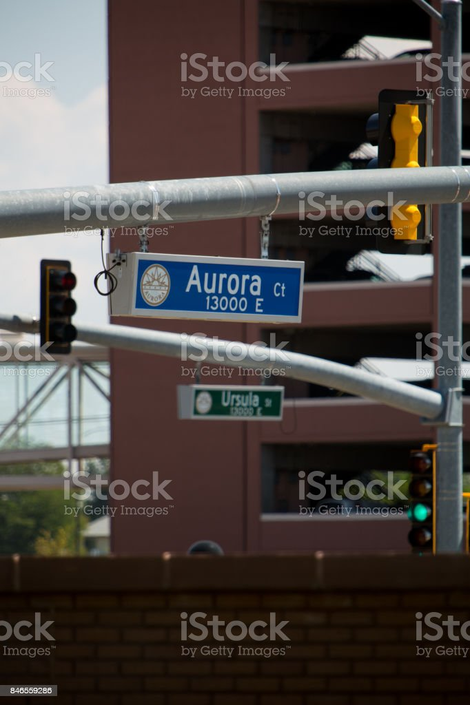 Parking Garage and Street Signs Vertical stock photo