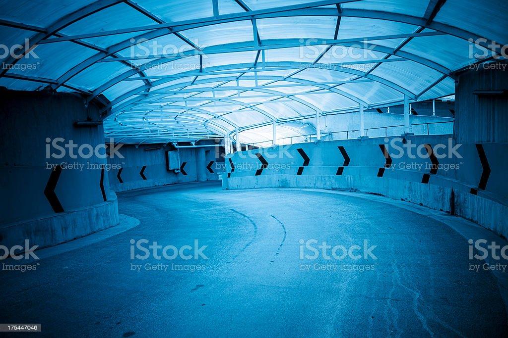 Parking garage driveway royalty-free stock photo