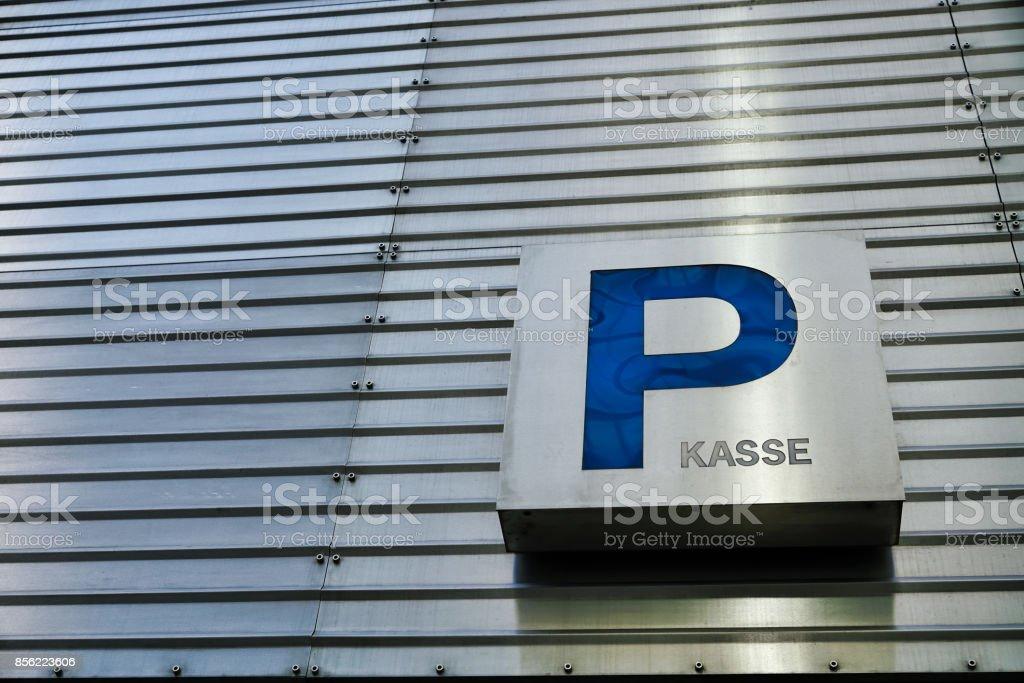estacionamento em Berlim - foto de acervo