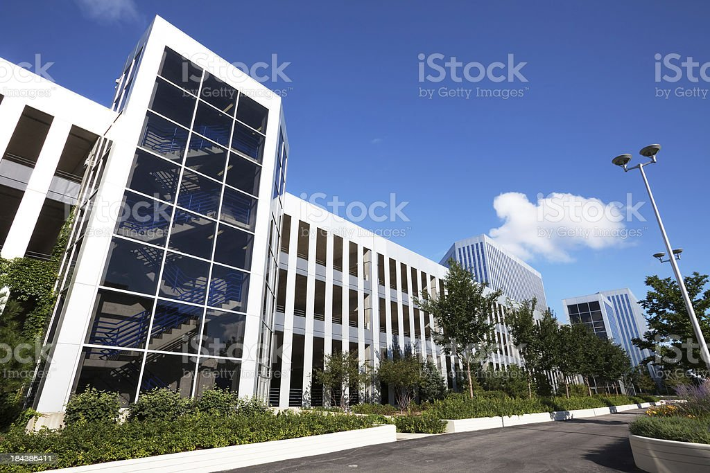 Parking Garage in Presidents Plaza, OHare, Chicago royalty-free stock photo
