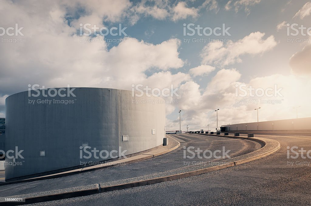 Parking garage road in the sky royalty-free stock photo