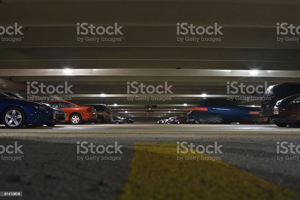 Parking Garage Worm's Eye View 2 royalty-free stock photo