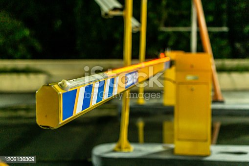 858738110 istock photo Parking gate 1206136309