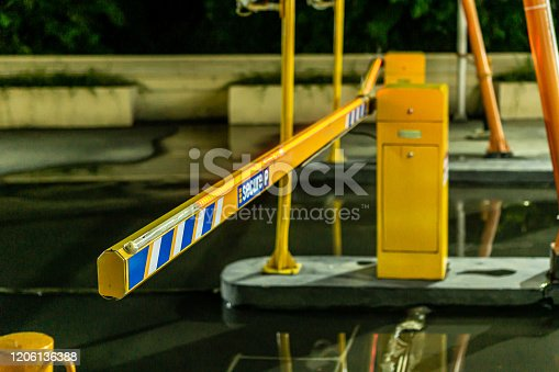 858738110 istock photo Parking gate 1206136388