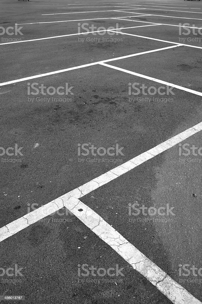 Parking hold separated by white lines. royalty-free stock photo