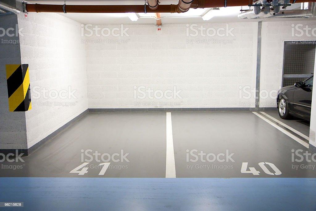 Parking in underground garage royalty-free stock photo