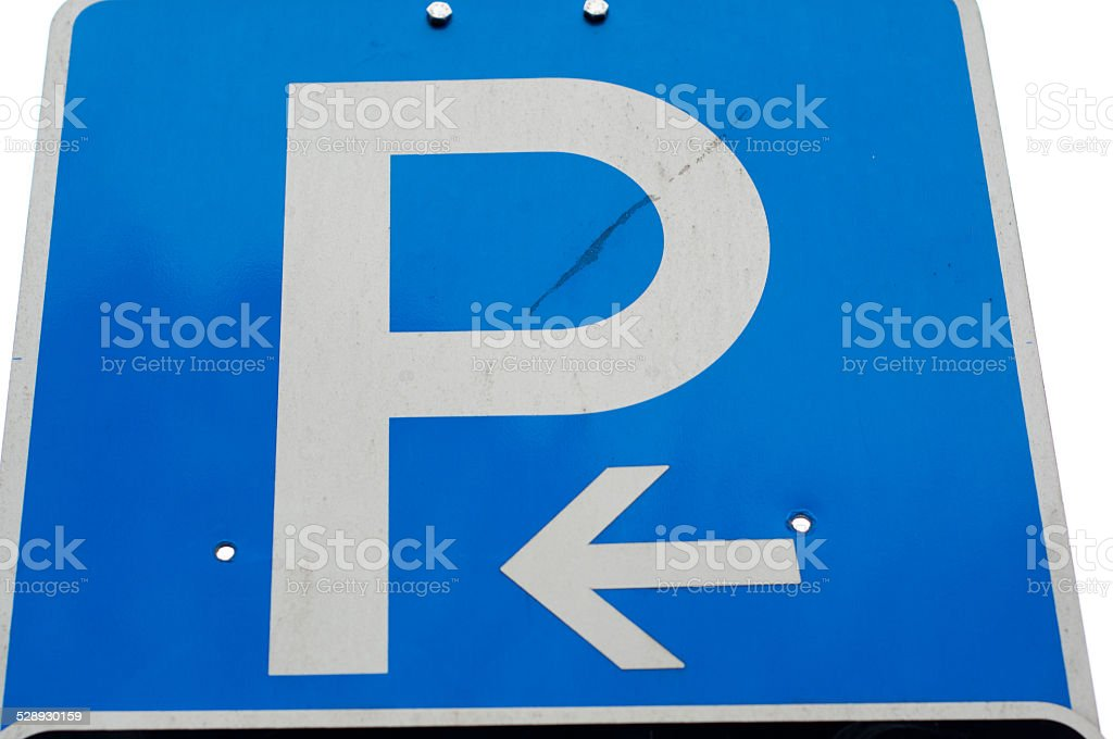 Parking left stock photo