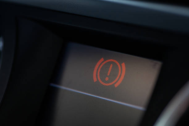 Parking light icon stock photo