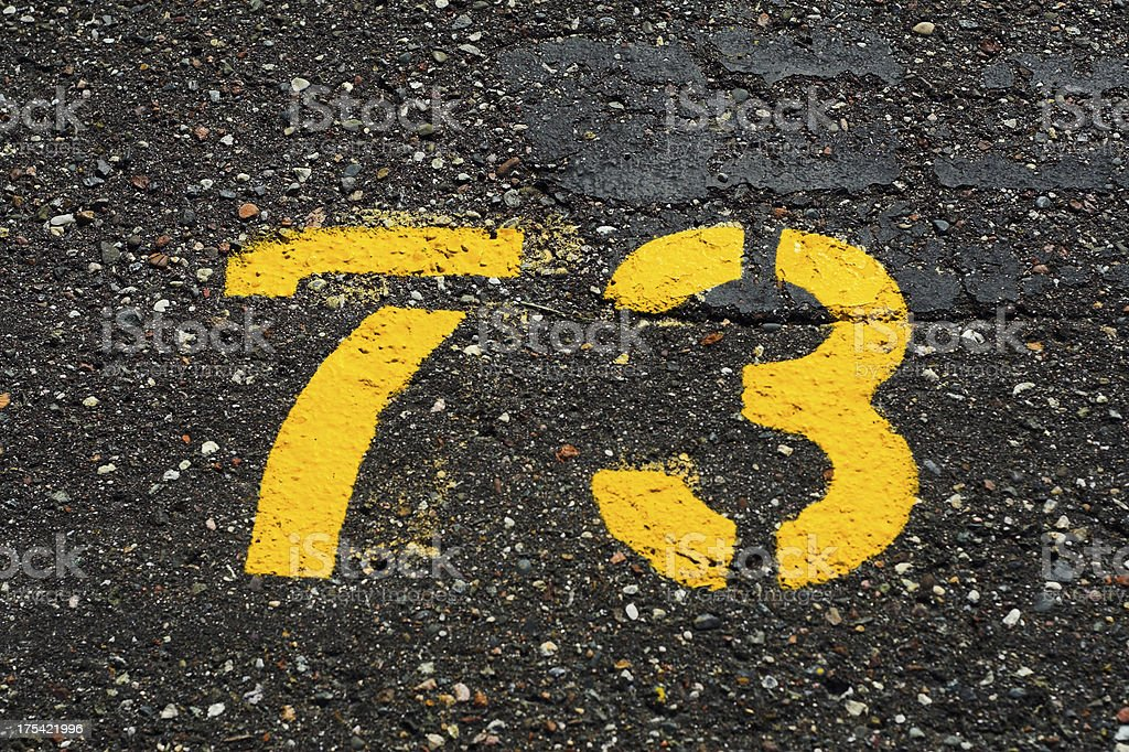 Parking Lot 73 royalty-free stock photo