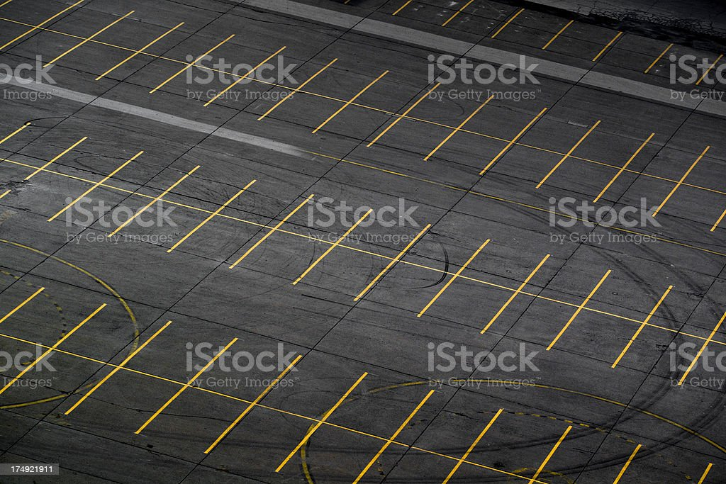 Parking lot aerial stock photo