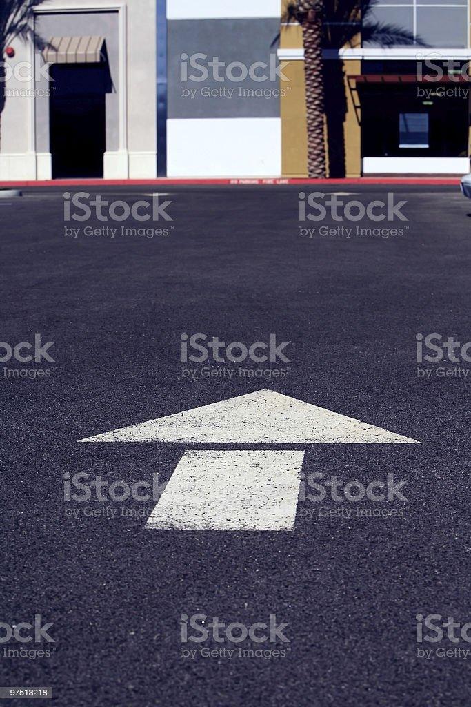 Parking lot arrow royalty-free stock photo