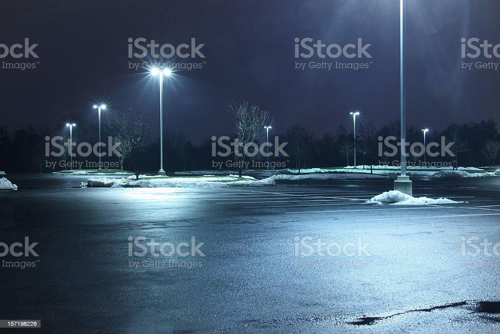 Parking lot at night圖像檔