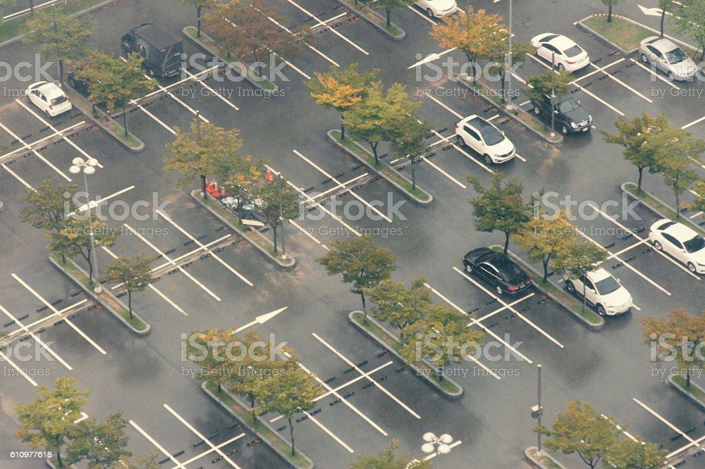 Parking Lot - Car parking stock photo