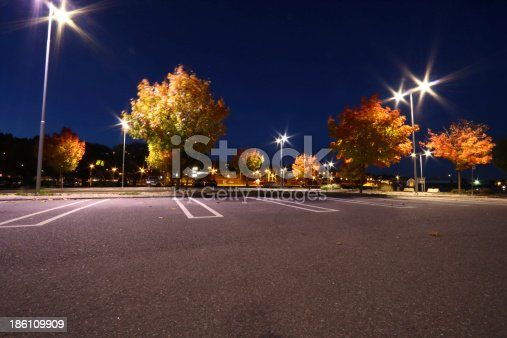 Parking lot in autumn