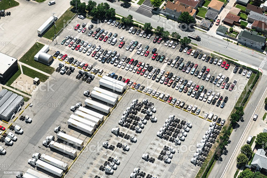 parking lot in Chicago foto royalty-free