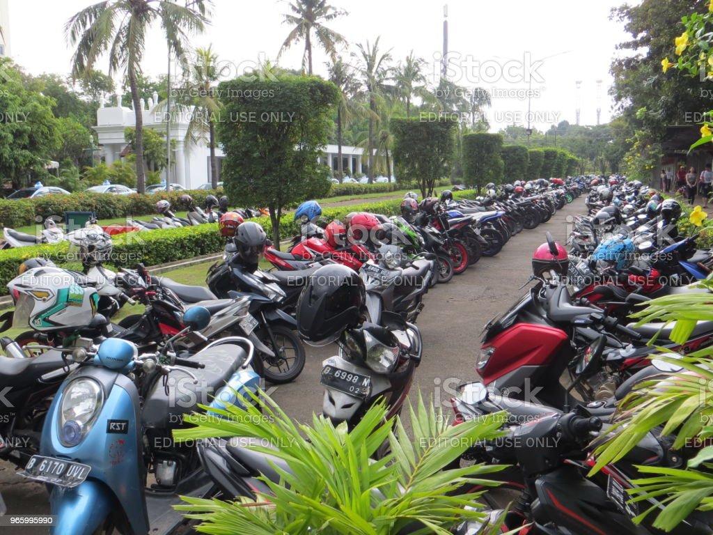 Parkplatz in Jakarta - Lizenzfrei Fotografie Stock-Foto