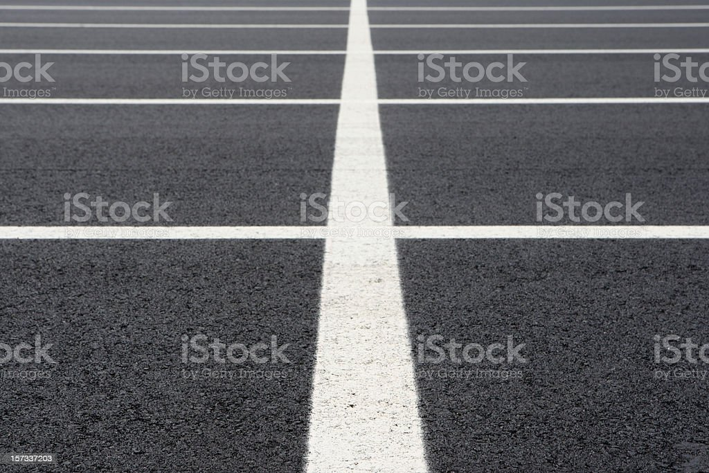 Parking lot lines 3 royalty-free stock photo