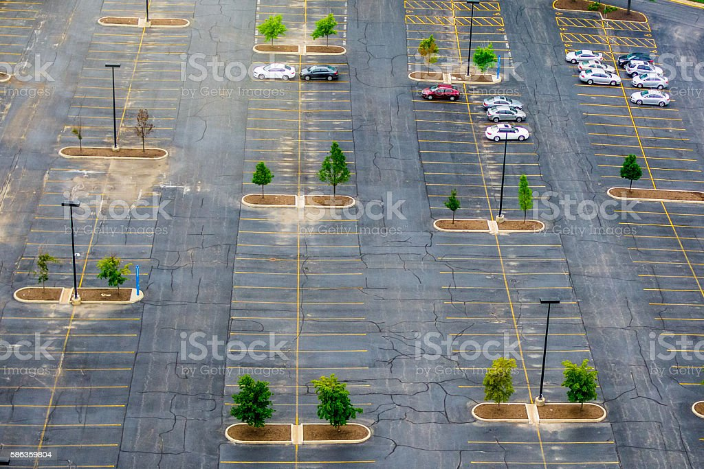 Parking Lot stock photo