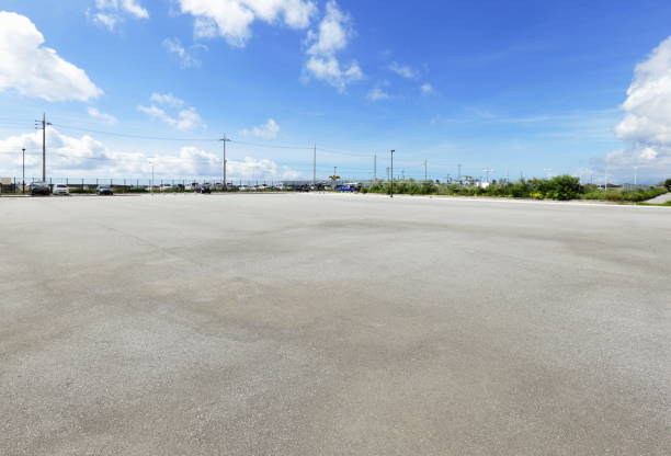 Parking lot Parking lot of automobile parking lot stock pictures, royalty-free photos & images