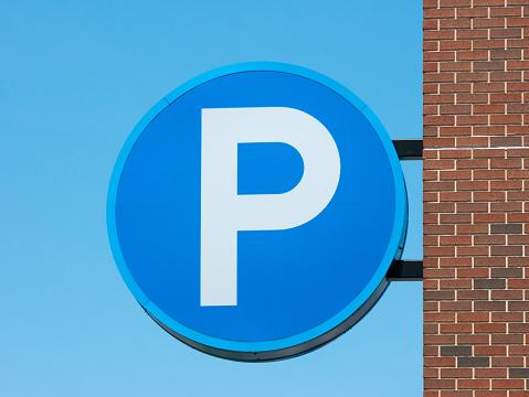 Parking lot sign.