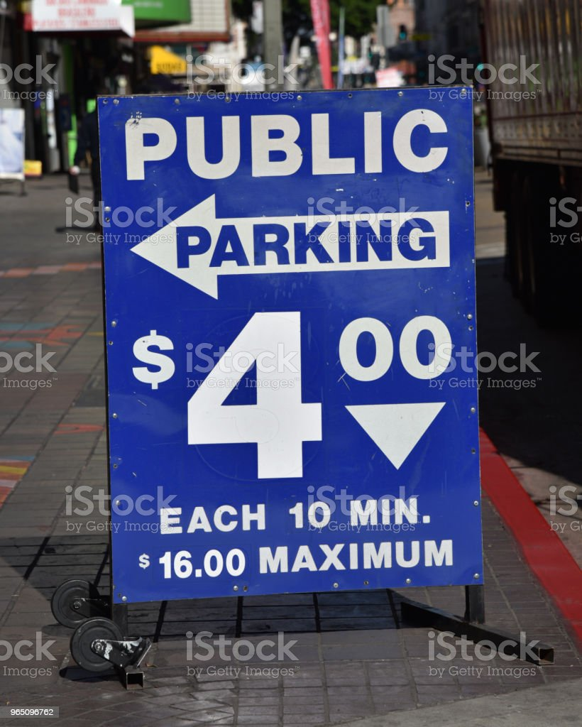 Parking lot sign royalty-free stock photo