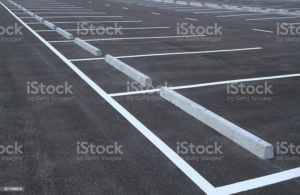 Parking lots stock photo