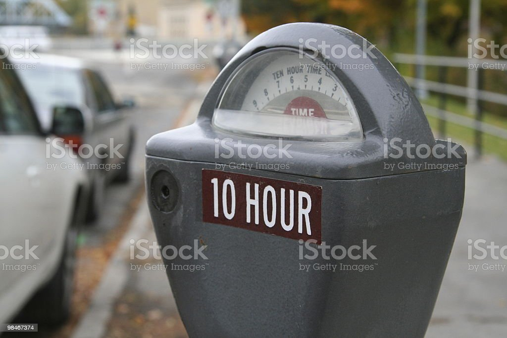 Parking meter downtown royalty-free stock photo
