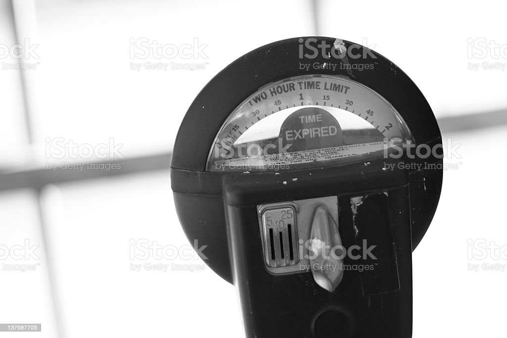 parking meter expired royalty-free stock photo