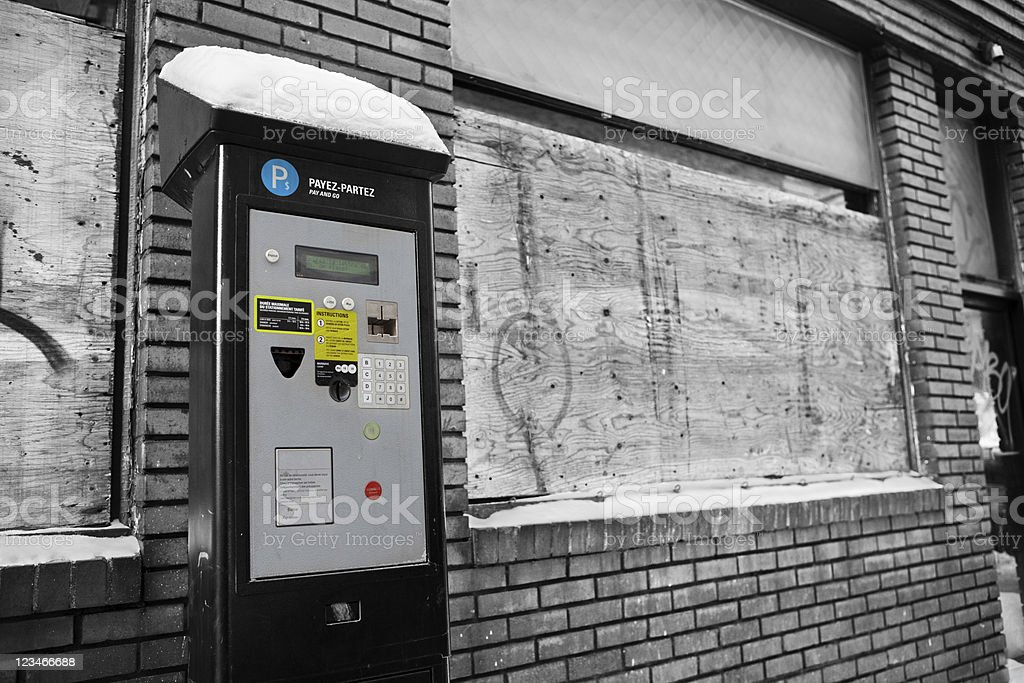 Parking Meter Pay Station - Unintended Consequenses Concept royalty-free stock photo
