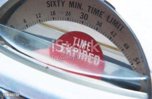 close up of parking meter