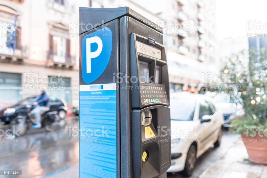 Medidor de estacionamiento sin servicio de valet. foto de stock libre de derechos