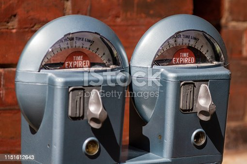Retro style parking meters