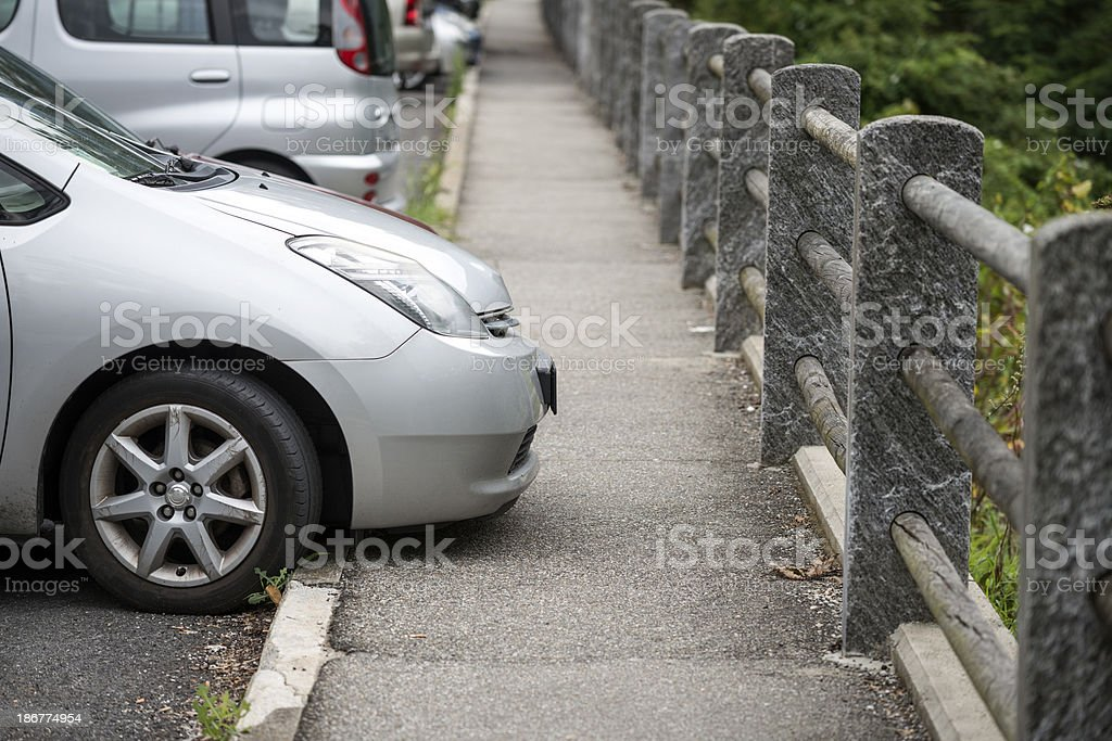Parking on sidewalk royalty-free stock photo