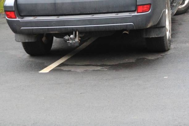 Über zwei Parkplätze – Foto