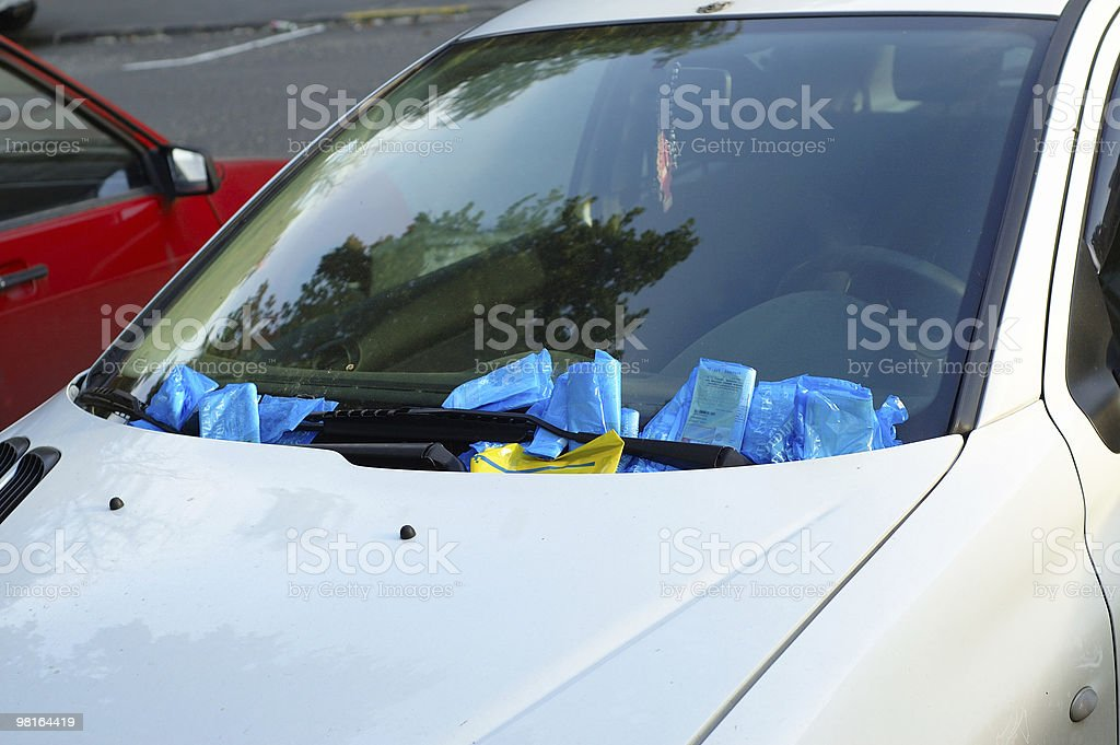 Parking penalty royalty-free stock photo