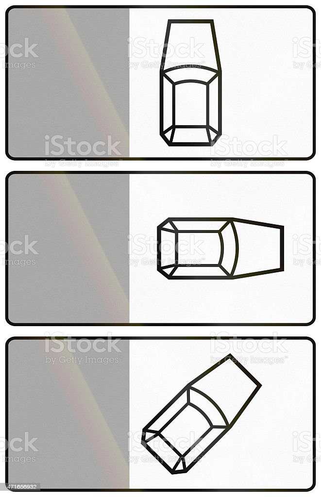 Parking Positions In Poland stock photo
