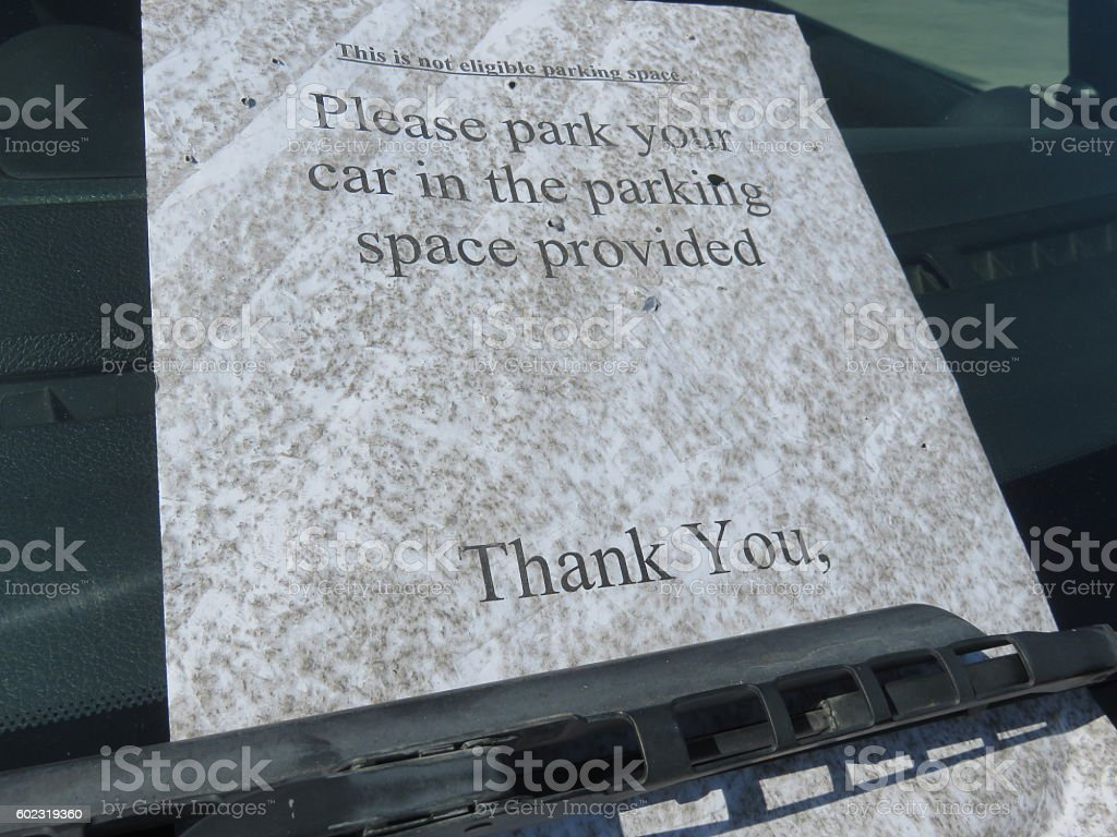Parking prohibited sign stock photo