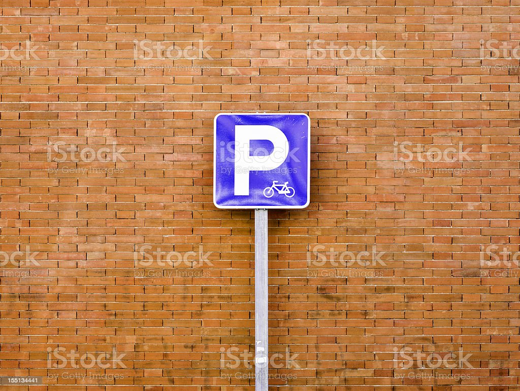 Parking road sign:Only for motorcycles (medium format camera) stock photo