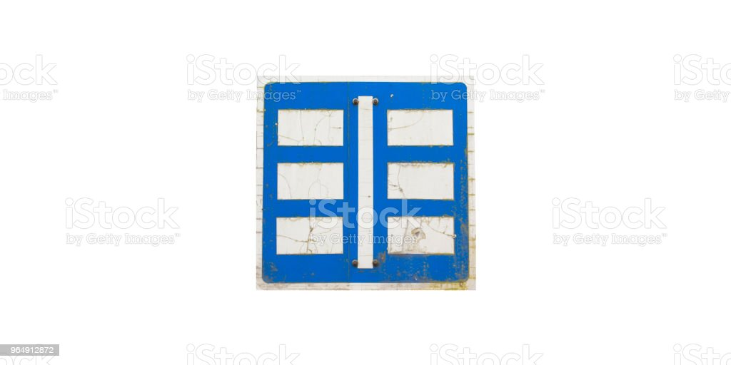 Parking sign on white background. royalty-free stock photo