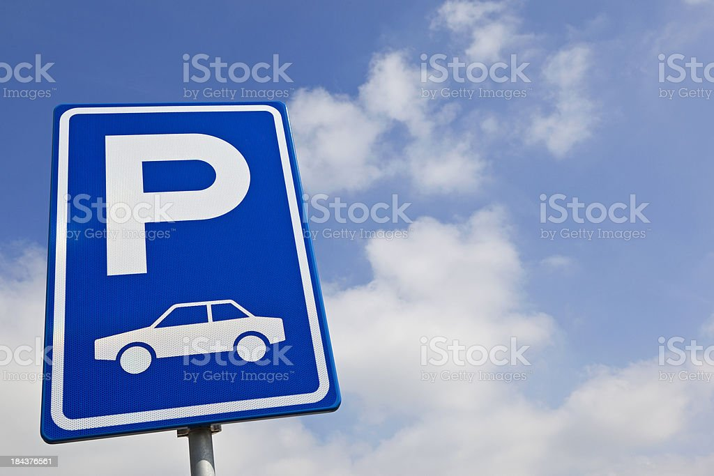 Parking sign stock photo