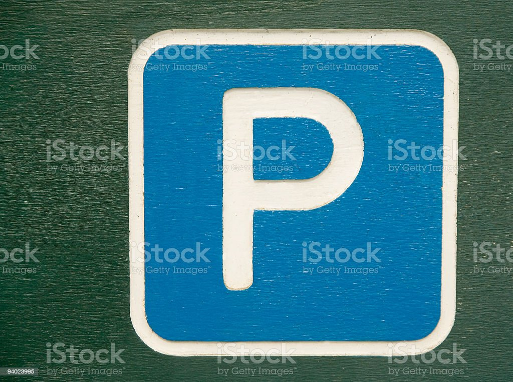 Parking sign royalty-free stock photo