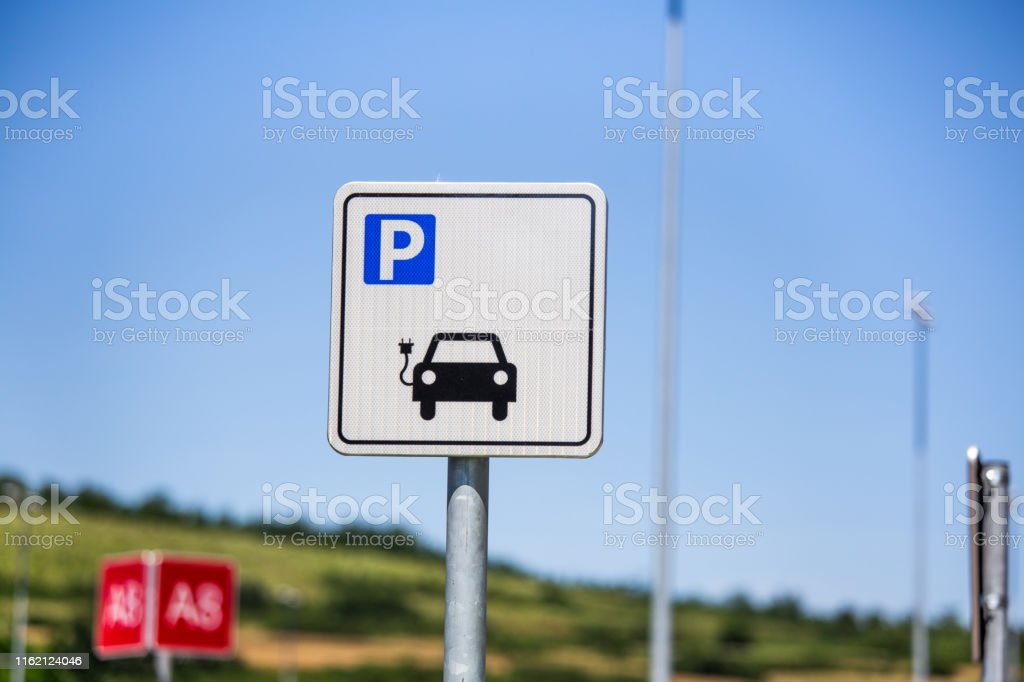 Parking Space for Electric Cars. electric vehicle charging station...