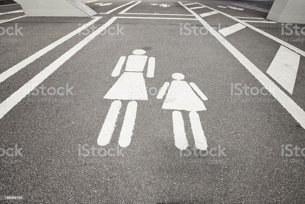 Parking space for mother and kids royalty-free stock photo