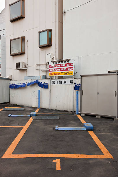 Parking space in Tokyo stock photo
