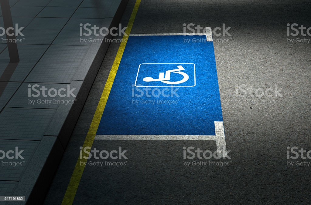 Parking Space Paraplegic stock photo