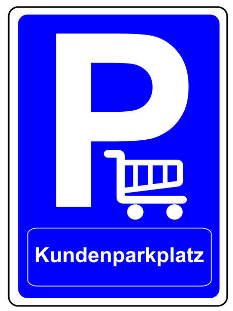 Parking space sign German Customer parking space stock photo