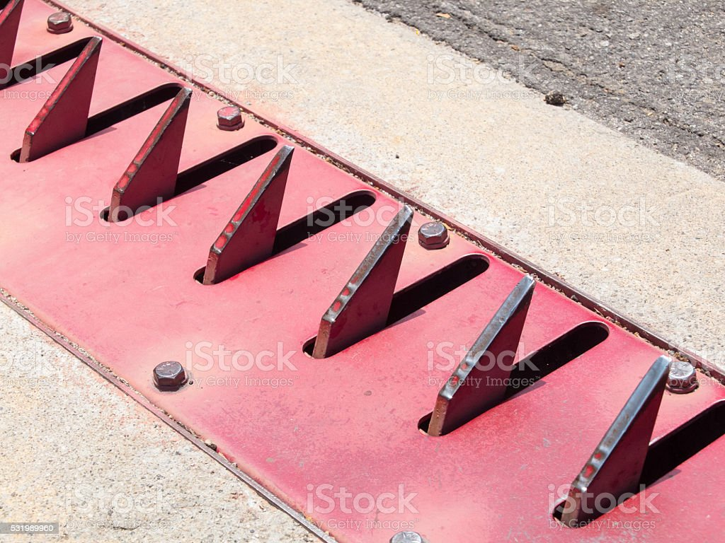 parking spike system stock photo