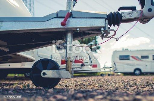 Recreational Vehicles Parking Storage or RV Sales Lot.