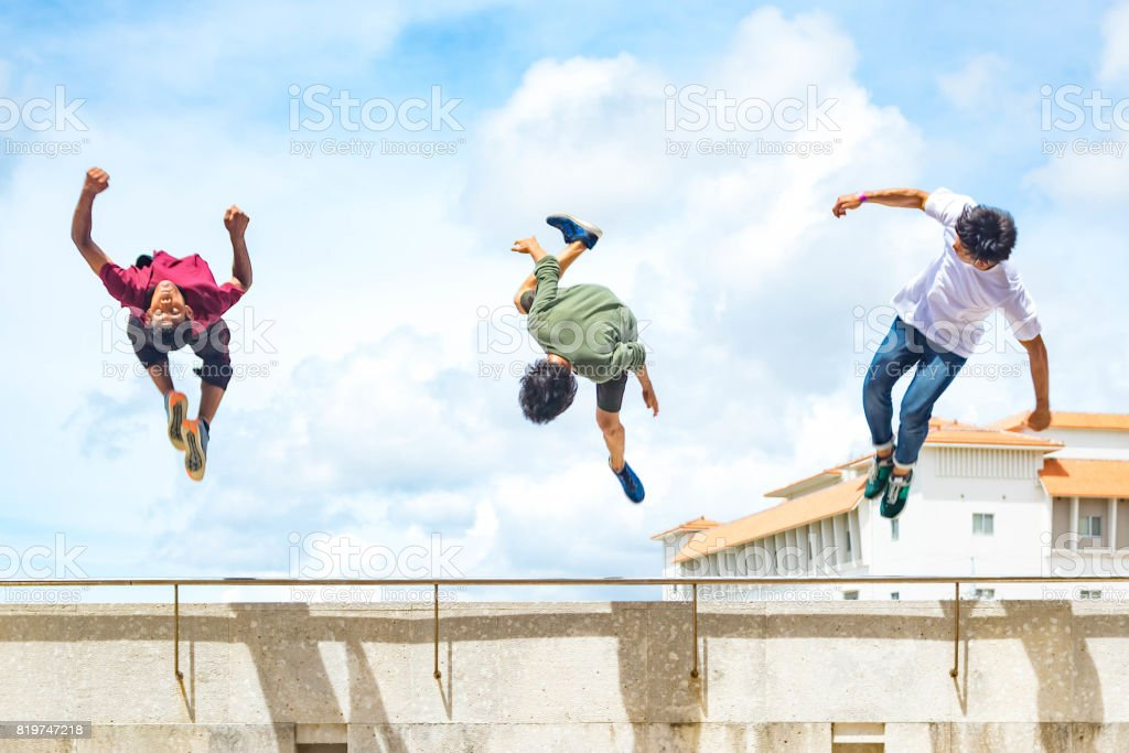 Parkour 2 stock photo